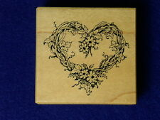 Psx F-057 1992 Psx Heart Grapevine Wreath F057 Love Wedding Wood Rubber Stamp
