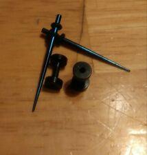 Plug Set. Black surgical steel. 4pcs 12g Ear Gauge Taper And