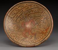 A Macaracas Panama Pedestal Plate Pre Columbian Art c. 800 - 1000 AD