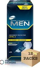 TENA Men Absorbent Protector - Level 2 - Case - 12 Packs of 20 - Total 240 Pads