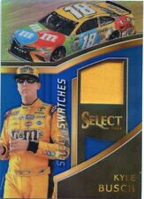 2017 PANINI SELECT RACING NASCAR PRIZM SWATCHES FIRE SUIT #/199 KYLE BUSCH