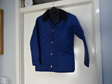 BARBOUR CHILDRENS LIDDESDALE NEW QUILTED JACKET SIZE M, 8/9 YRS BLUE GREAT COND