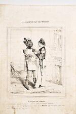 CARICATUREE de BEAUMONT La Civilisation aux Iles Marquises 6 Ta-toué le Journal
