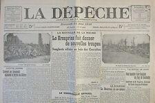 WW1 JOURNAL LA DEPECHE MAI 1916 BATAILLE DE LA MEUSE KRONPRINZ BOIS DES CAURETTE