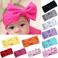 Toddler Girls Baby Big Bow Hairband Headband Stretch Turban Knot Head Wrap new