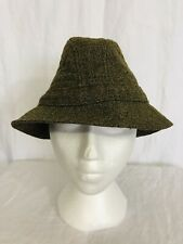 Vintage LL Bean Keepers 100% Tweed Wool Trilby Fedora Hat Mens Small Marked SM