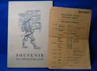 WWII 1945 Army Forces In Switzerland European Theater Paper & Tour Book