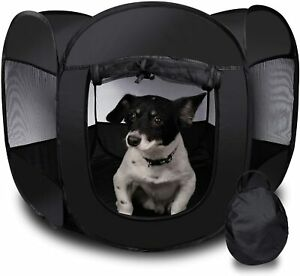 ZONE TECH PORTABLE FOLDING DOG CAGE PET TENT HOUSE PLAYPEN KENNEL CAT HOUSE GATE