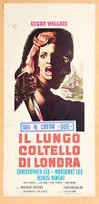 LOCANDINA, IL LUNGO COLTELLO DI LONDRA-Circus of Fear, WALLACE, LEE, JACOBS