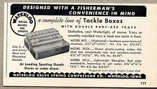 1958 Print Ad Waterloo Metal Fishing Tackle Boxes Waterloo,Iowa