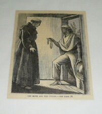 1879 magazine engraving ~ THE MONK AND THE INDIAN