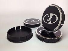 LADA 4pcs Plastic Wheel Centre Caps with Alu Emblem 60mm/55mm NEW