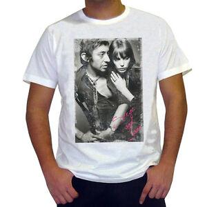 Gainsbourg Birkin t shirt homme, Manches Courtes, Coton blanc cadeau