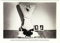 Looking at Her Books Upside Down She Exercised by Marcia Resnick 1978 Postcard