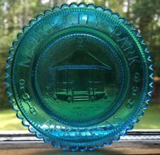 Moro City Park Arkansas Pairpoint Crystal Glass Cup Plate Lee County AR Pavilion