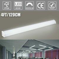 Modern 4FT 60W LED Linear Batten Tube Light Ceiling Surface Mount Lamp Fixture