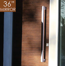 "Pull Push 36"" Handles for  Entrance Entry Front Door, Rectangle, Mirror"