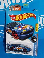 Hot Wheels 2016 Hw Race Team Series #3 Custom '12 Ford Mustang Blue w/ Mc5s
