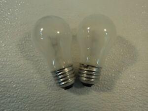 Philips 40 Watt Incandescent Light Bulb 2 Pack Frost Appliance A15 Series 40A/15