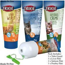 Lot de 3 chats Premio pâté Collations en tube + Gratuit Tube Guard facilement donner des médicaments/TRAITE