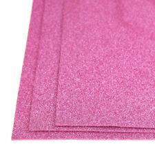 Self-Adhesive Glitter EVA Foam Sheet, 8-Inch x 12-Inch, 3-Piece, Pink