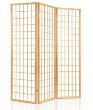 3 Panel Room Divider Living Bed Solid Wooden Timber Natural Fold Screen Stand