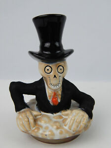 Yankee Candle Halloween Boney bunch Topper / Lid Skeleton Skull Mint condition