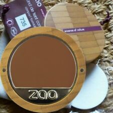 Zao Compact Foundation 735 Schokolade dunkelbraun creme Kompakt-makeup Bio vegan
