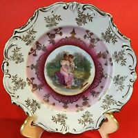 BLENHEIM CHINA PORTRAIT PLATE HAND PAINTED ARTIST SIGNED GERMANY CHERUB 6 1/8""