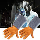 Welding WELDERS Work Soft Cowhide Leather Plus Gloves For protecting hand NEW