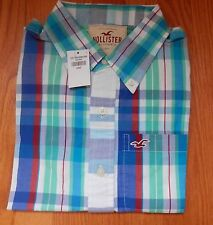 NWT Hollister Los trancos Button Down Shirt Plaid 2 Colors Avail  Large