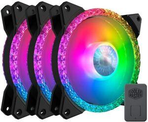 COOLER MASTER MF120 Prismatic ARGB 3-in-1 LED Controller COOLING Case Fan 120mm