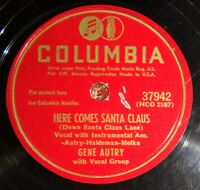 Gene Autry - Here Comes Santa Claus / An Old Fashioned Tree EE- / E- A2