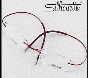 8816 Silhouette Ultra-Light Titanium Eyeglasses Frame Rimless Big Glasses Frame!