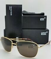 89b76f0c98 New Mont Blanc sunglasses MB548S 30E Gold Brown Zeiss Lenses AUTHENTIC 30E   495