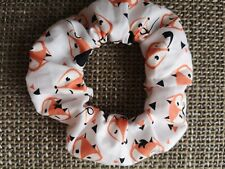 Beautiful Handmade hair Scrunchie- hairband-  Mr Fox, Foxes.