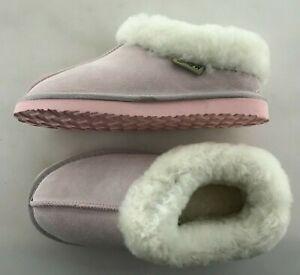Snowpaw Classic Pink Sheepskin Sliper Boot New In Box