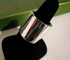 "HEAVY Thick Sterling Silver EXTRA WIDE 7/8"" Cigar Band Ring Custom Made Any Size"