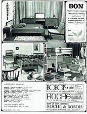 PUBLICITE ADVERTISING 126  1969   les chambres a coucher Meubles Roche & Bobois