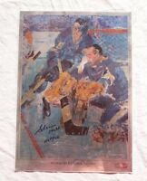 St. Louis Blues Signed Autographed Glenn Hall Leroy Neiman Print Christmas Card