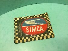 Paddy hopkirk badge original classic car woven cloth jacket patch , SIMCA