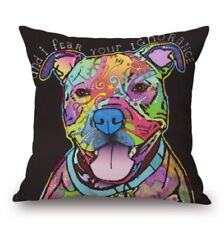 Pop Smiling Staffy Staffordshire Bull Terrier dog art printed on pillow case Sta