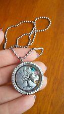 Custom grandma gift family tree kids birthstones living memory charm necklace