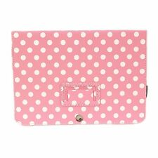 "NEW Kyasi Seattle Classic Tablet Case for Samsung Galaxy Tab 2 10"" Pink Polka Do"