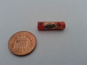 1/12 Scale - Packet of Cheddar Biscuits for Dollshouse Miniatures