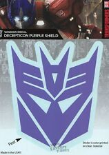 Transformers Decepticon Purple Logo Licensed Decal Car Window Laptop Tablet