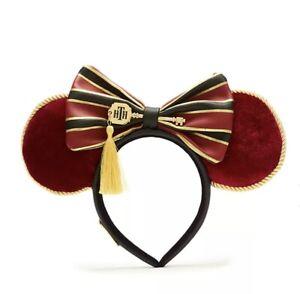 Disney Parks HOLLYWOOD TOWER HOTEL Terror Minnie Ears Headband By Loungefly NEW