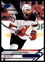 2020-21 UD Overtime Wave 2 Base Blue #94 Kyle Palmieri - New Jersey Devils