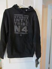 Stussy No. 4 Hoodie Sweatshirt in Black Cotton from Urban Outfitters NWOT size S