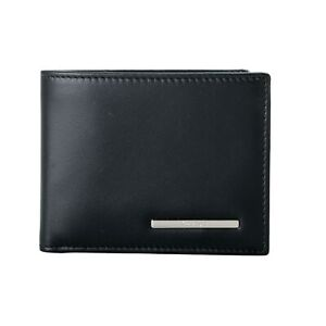 Salvatore Ferragamo Men's 100% Leather Black Bifold Wallet